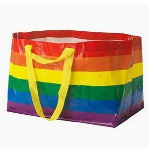 IKEA KVANTING Rainbow LGBT Pride Multicolored Bag